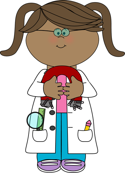 398x550 Kid Scientist With A Magnet Clip Art
