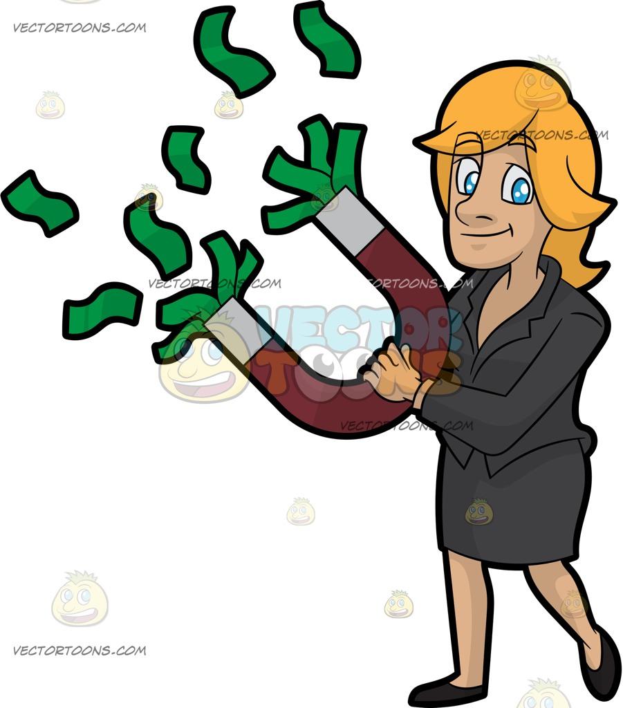 901x1024 A Woman Holding A Money Magnet
