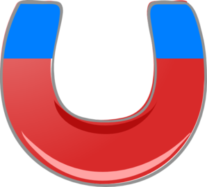 298x270 Blue Magnet Clip Art