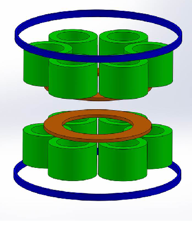 391x470 Possible Conguration For The Wave Magnet. The 3 Quartets Of Coils