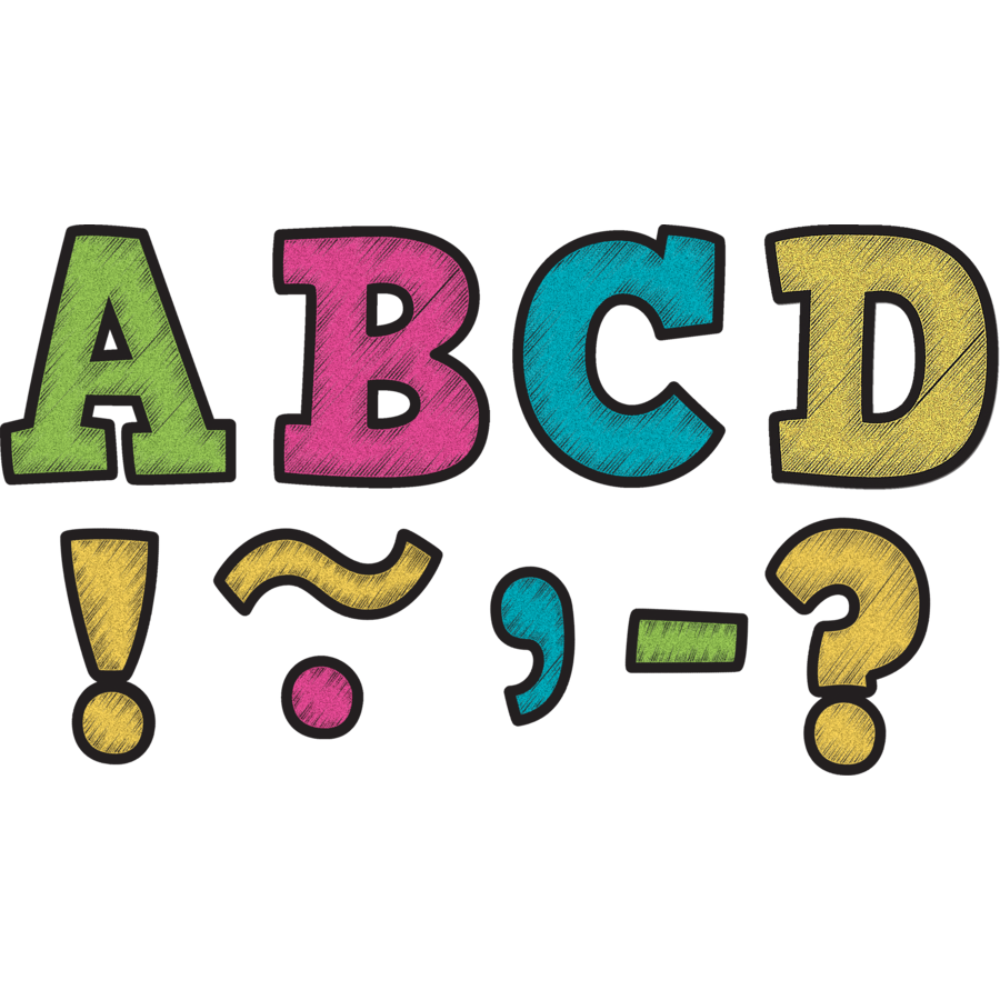 900x900 Chalkboard Brights Bold Block 3 Magnetic Letters