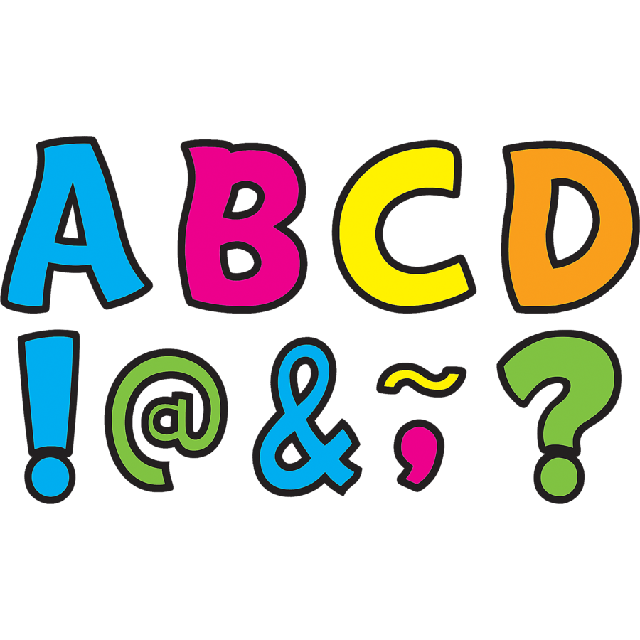 900x900 Neon Brights Funtastic Font 3 Magnetic Letters
