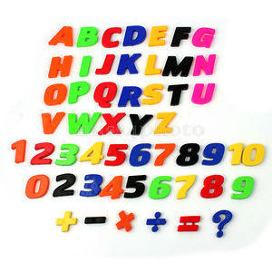 300x300 Set Of 52 Colorful Teaching Magnetic Letters Amp Numbers Fridge