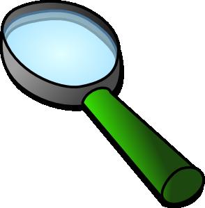 294x299 Magnifier Glass Clip Art
