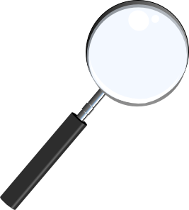 267x296 Magnifying Glass Clip Art