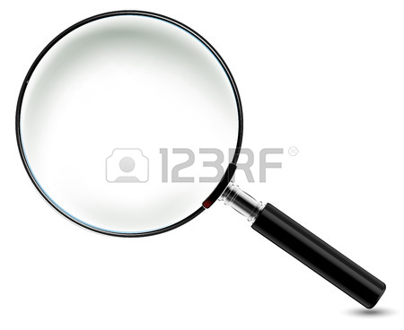 450x368 Transparency Magnifying Glass On A Gray Background Royalty Free