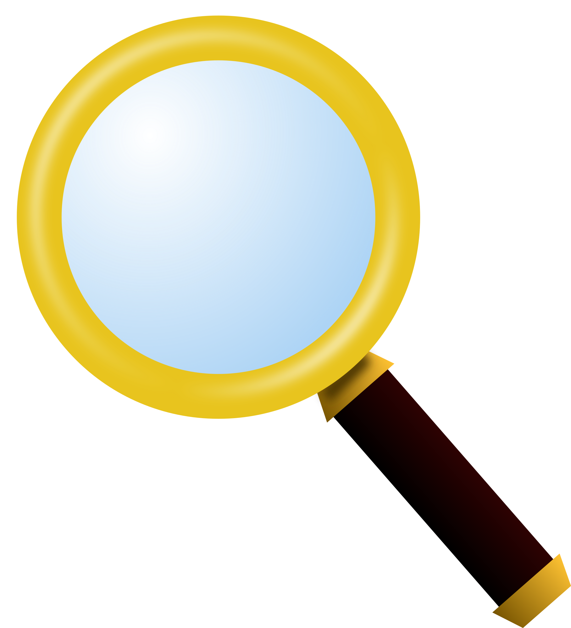 2181x2400 Yellow Magnify Glass Clipart