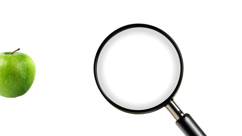 852x480 Magnifying Glass Isolated On White Background Stock Footage Video