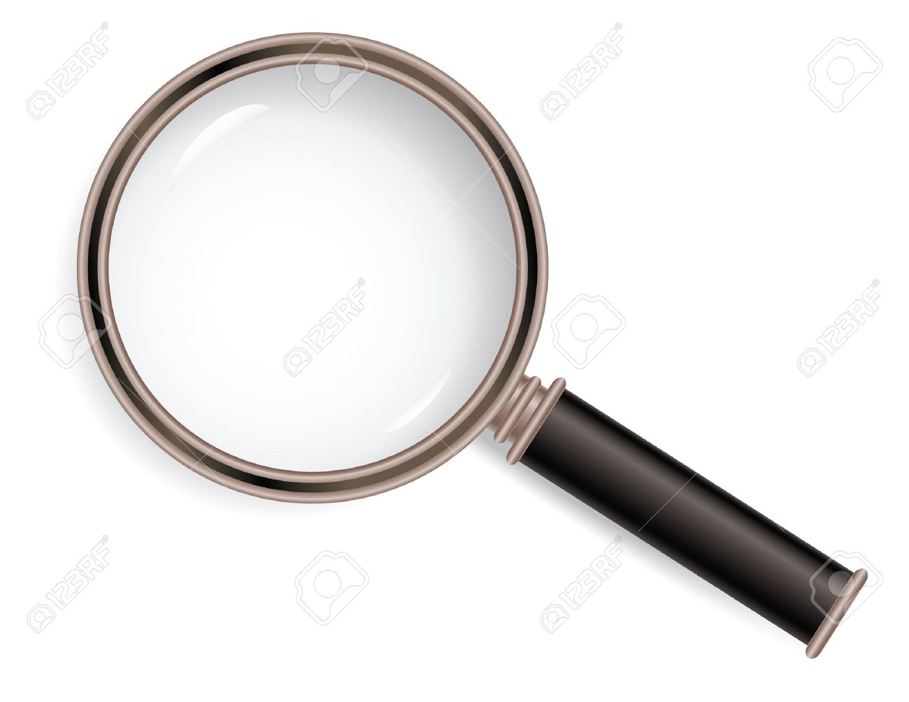1300x1004 Old Style Magnifier Glass Isolated On White Background Royalty