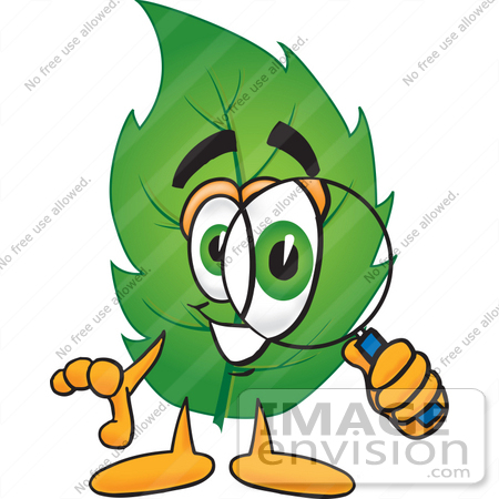 450x450 Clip Art Graphic Of A Green Tree Leaf Cartoon Character Looking