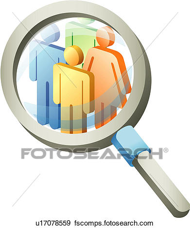 391x470 Clip Art Of Magnifying Glass U17078559