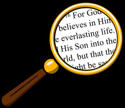 400x344 Image Magnifying Glass Over Bible Bible Clip Art Christart Com