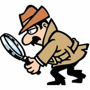 300x300 Clip Art Of A Private Investigator With Magnifying Glass, Private