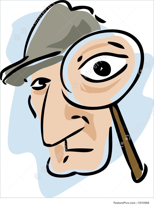 1016x1360 Detective Magnifying Glass Illustration