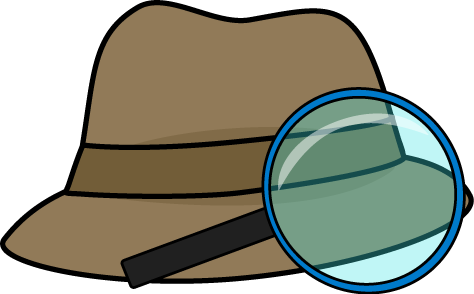 474x294 Detective With Magnifying Glass Clipart
