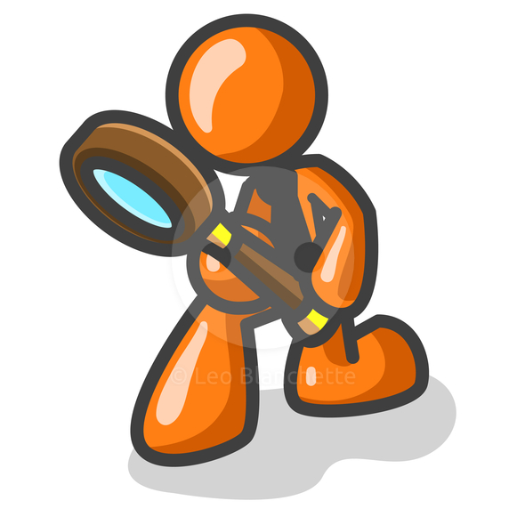 590x590 Detective With Magnifying Glass Clipart 3