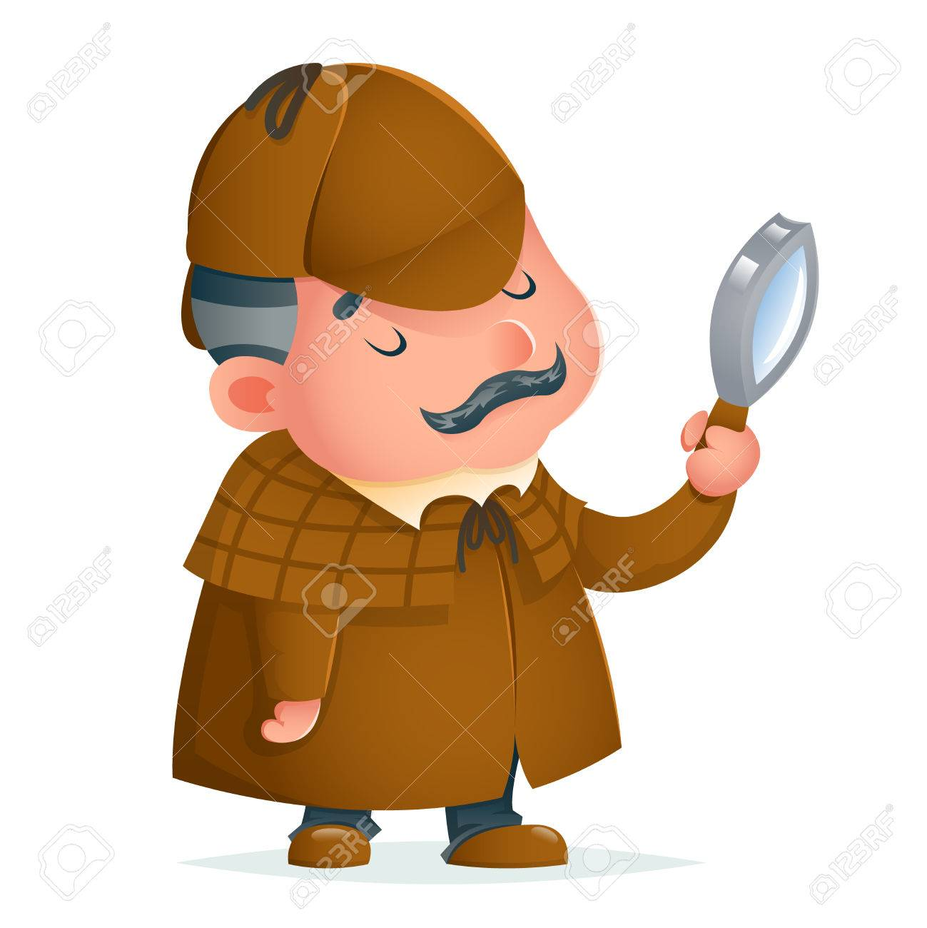 1299x1300 Victorian Detective Gentleman Magnifying Glass Investigate Search