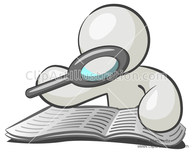 650x520 3d Clipart Magnifying Glass