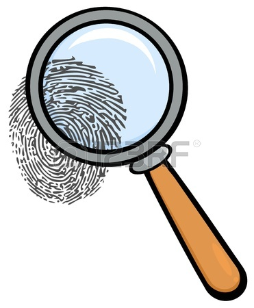 371x450 Isolated Magnifying Glass And Fingerprint Royalty Free Cliparts