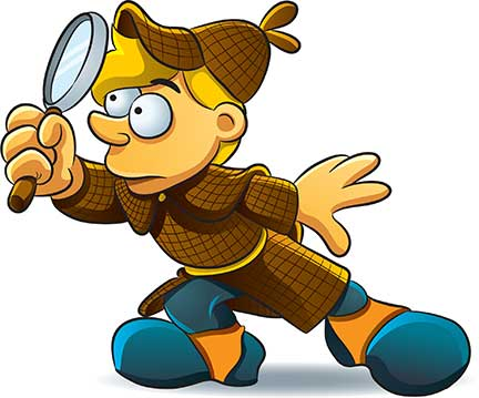 432x359 Child With Magnifying Glass Clipart Clipart 2