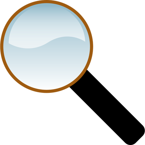 500x500 Glossy Magnifying Glass Vector Drawing Public Domain Vectors