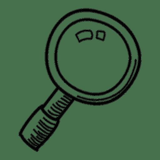512x512 Hand Drawn Magnifying Glass