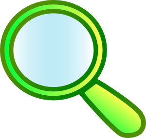 300x284 Magnifying Glass Free Vector