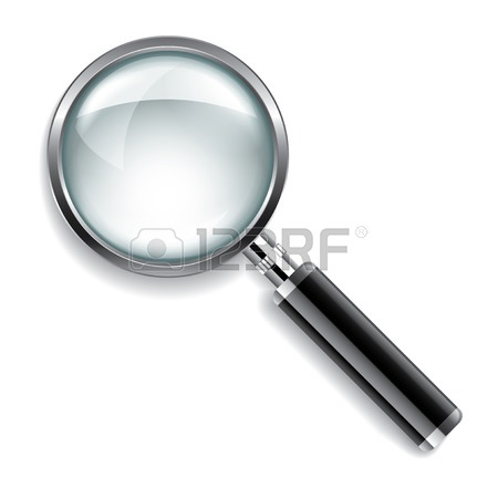 450x450 Realistic Magnifying Glass On Transparency Grid Royalty Free