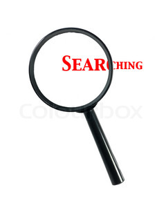 240x320 A Magnifying Glass Isolated Against A White Background Stock