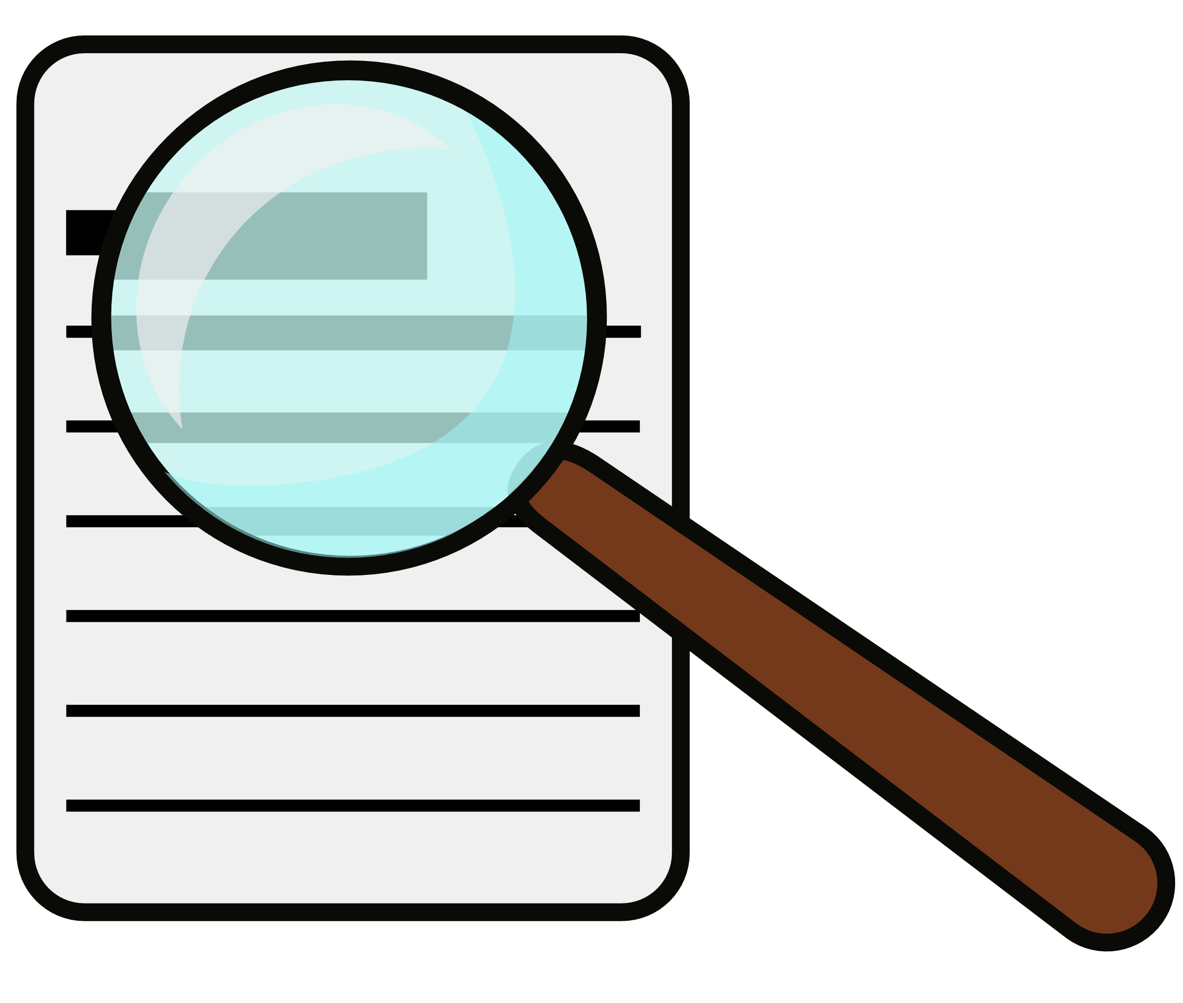 2400x2036 Magnifying Glass Book Clipart