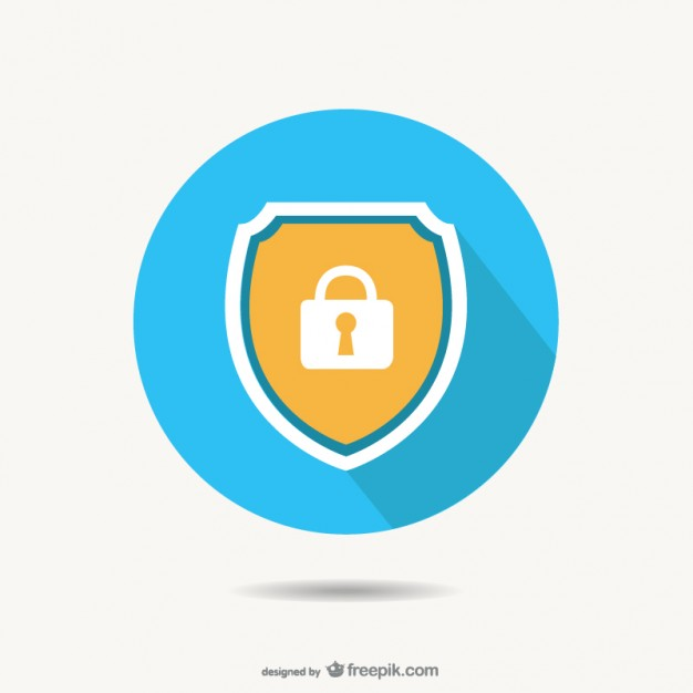 626x626 Background Of Security Protection With Magnifying Glass Vector
