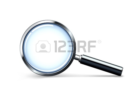 450x305 Transparency Magnifying Glass On A Gray Background Royalty Free