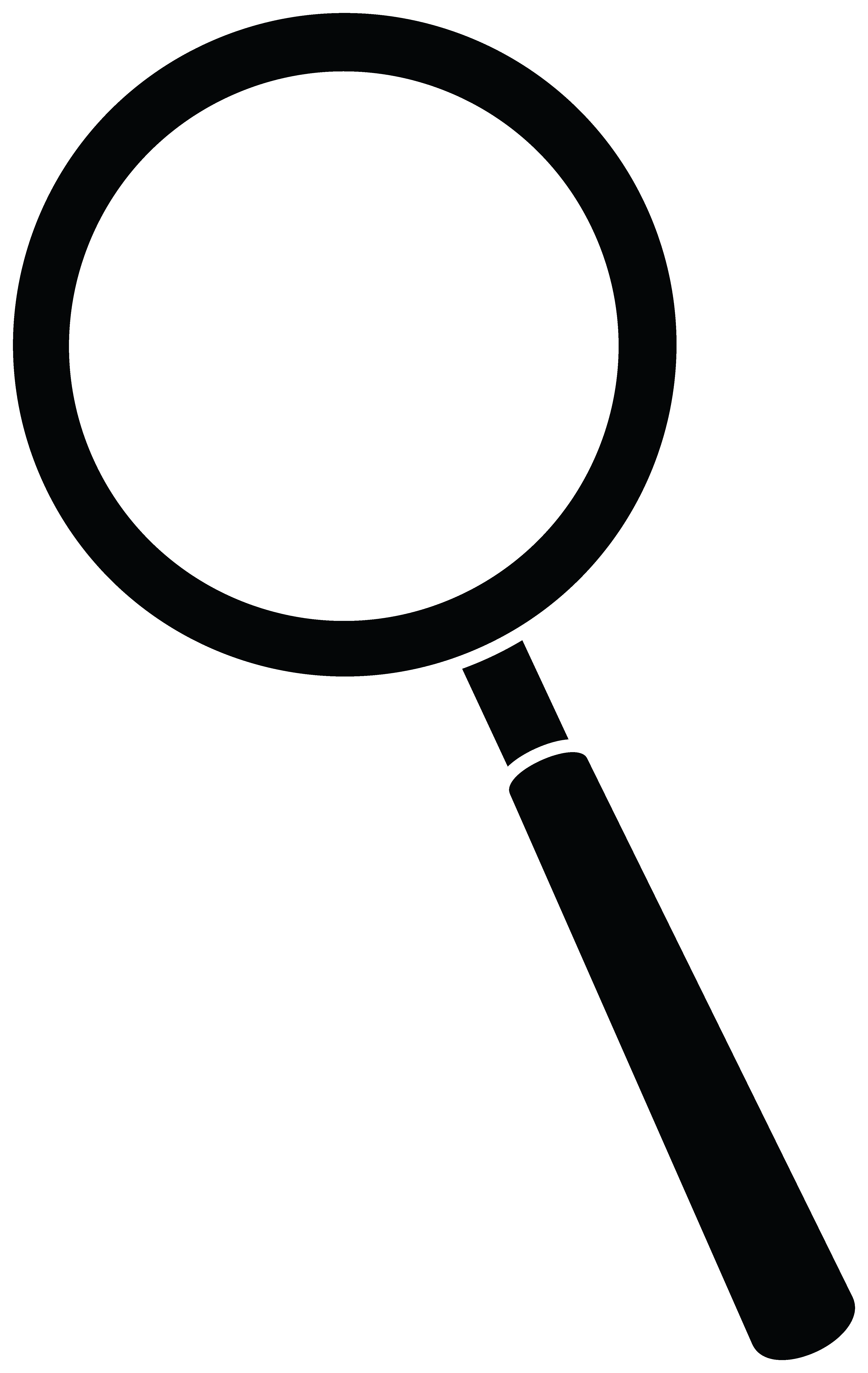 4166x6590 Black Clipart Magnifying Glass
