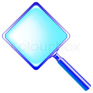 320x320 Blue Magnifying Glass Against White Background Abstract Vector