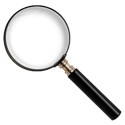 256x256 3d Clipart Magnifying Glass