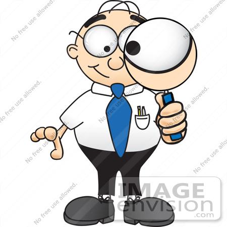 450x450 Clip Art Graphic Of A Geeky Caucasian Businessman Cartoon