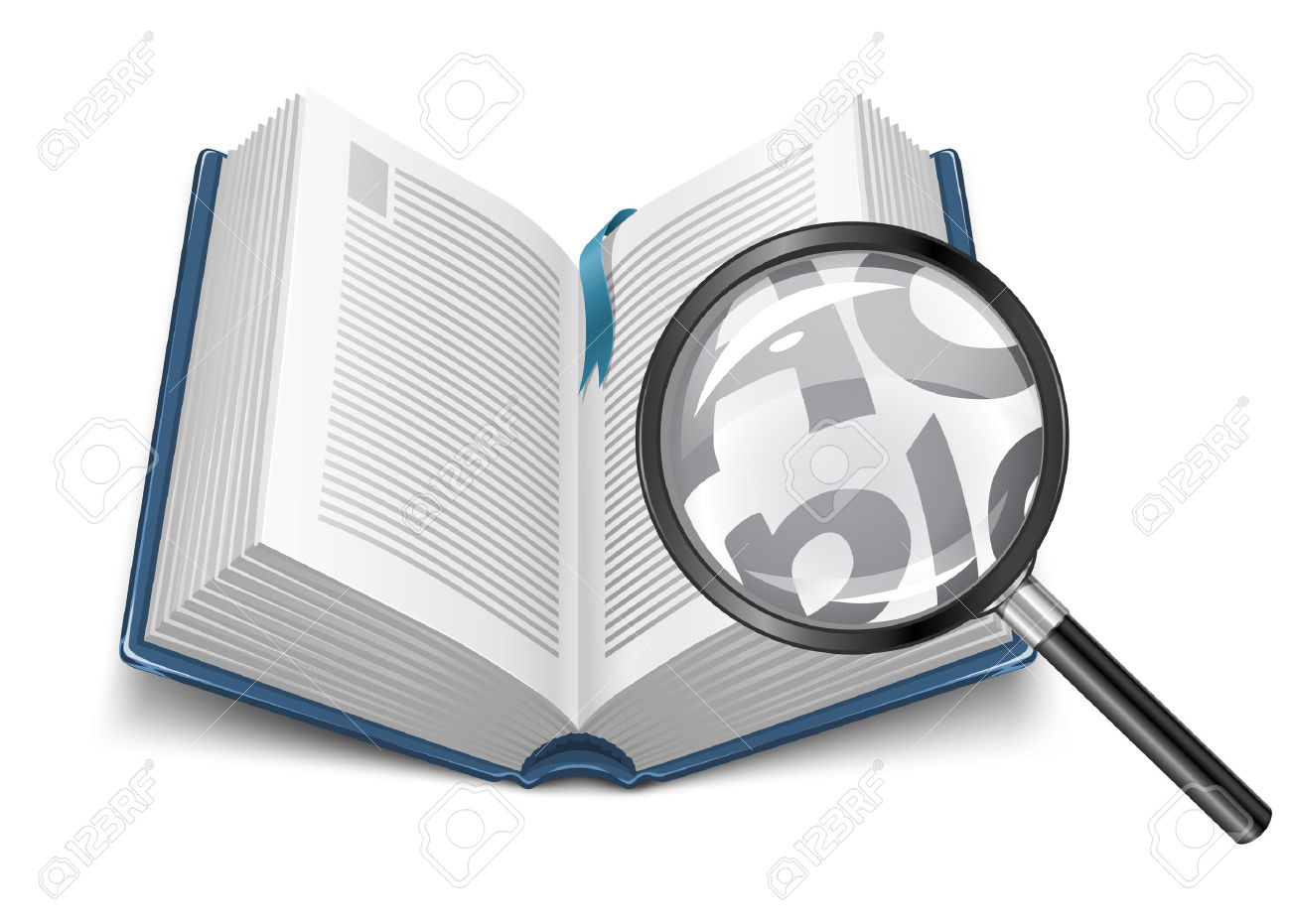1300x931 Magnifying Glass Book Clipart