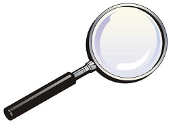 250x182 Magnifying Glass Photo Clipart Free Clipart Images