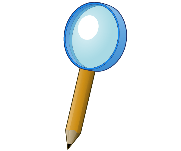 600x500 Magnifying Glass With Pencil Vector Art 123freevectors