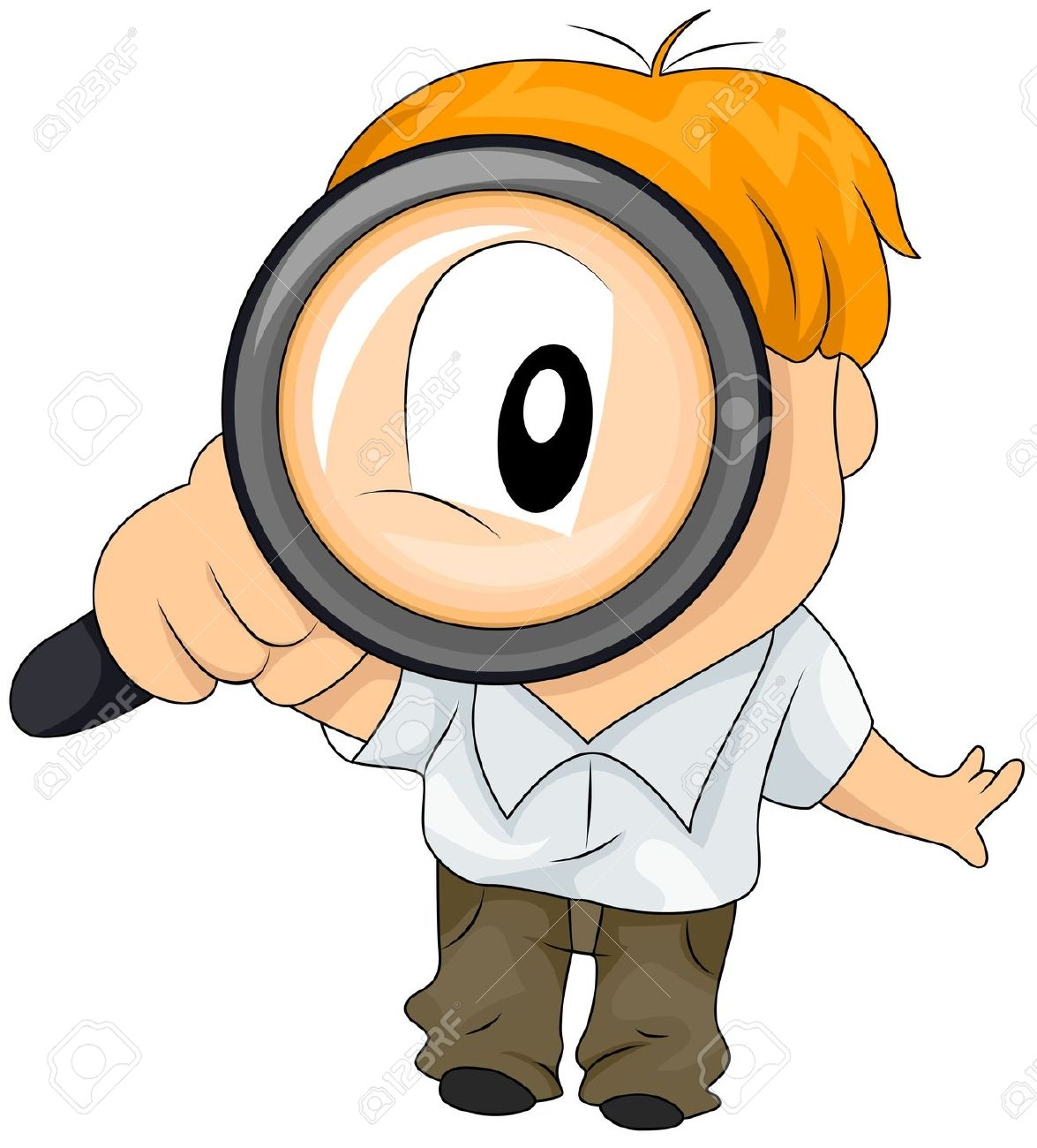 1175x1300 Boy With Magnifying Glass Clipart