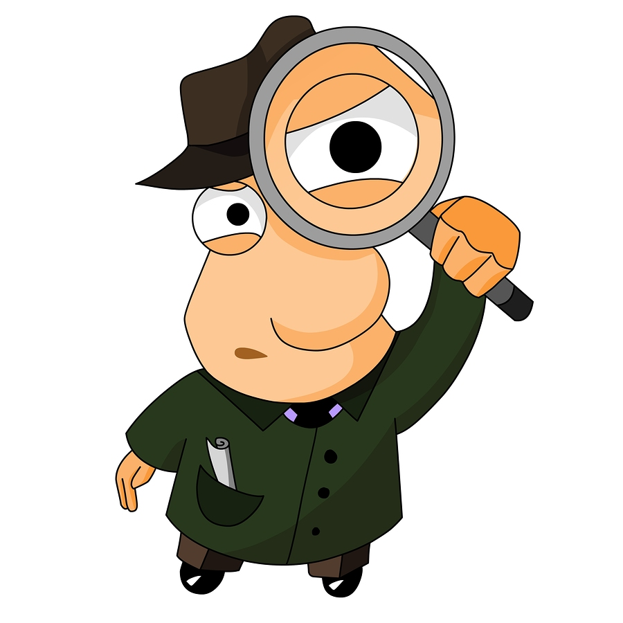 900x900 Person With Magnifying Glass Clipart