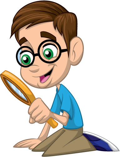 385x500 Boy With Magnifying Glass Creative For Kids