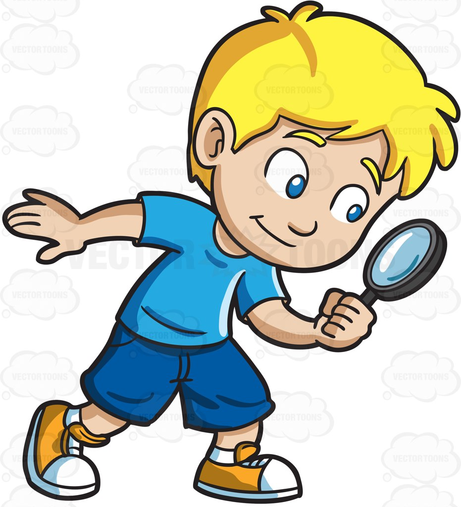 931x1024 Child With Magnifying Glass Clipart