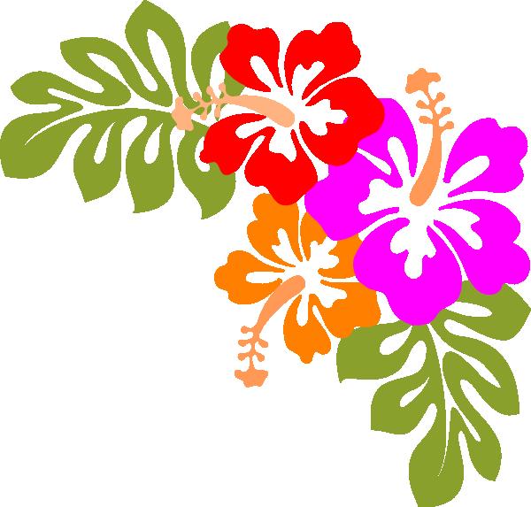 600x573 Clip Art Luau Flowers Clipart