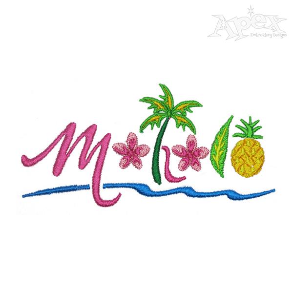 600x600 Mahalo Embroidery Design