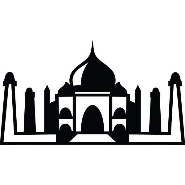600x600 Taj Mahal Landmark Clip Art For Custom Engraved Products