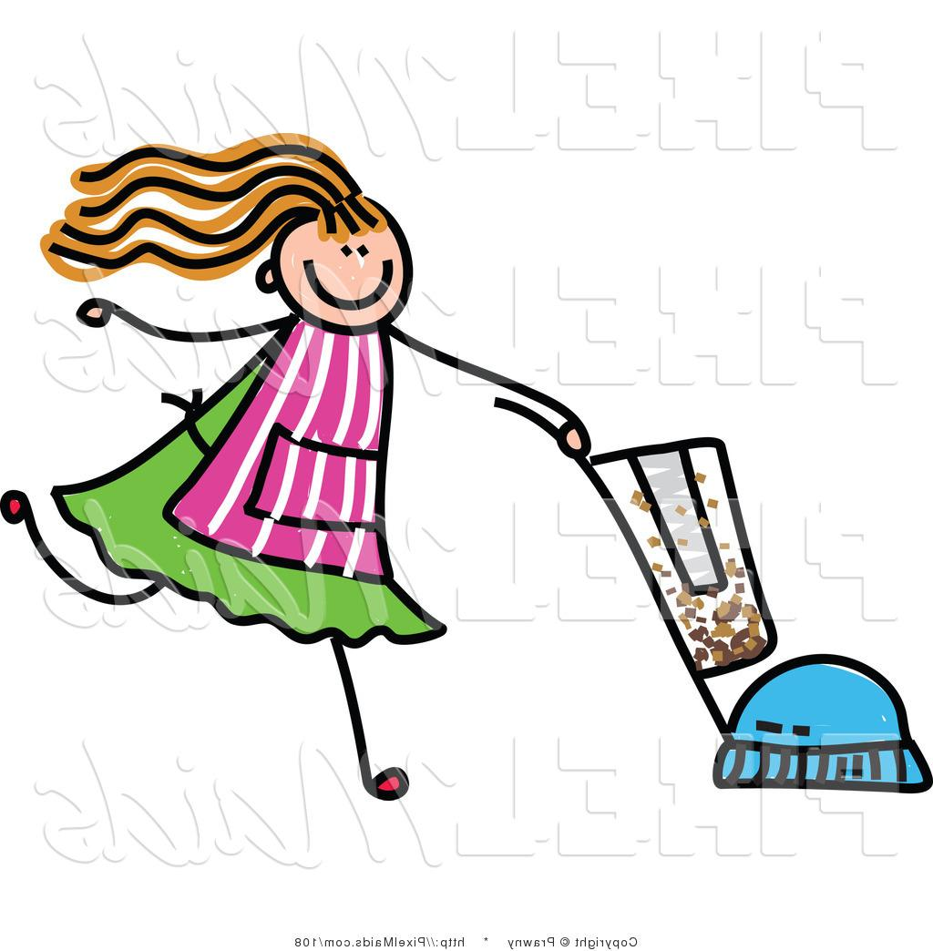 1024x1044 Best Hd Maid Clipart Of Childrens Sketch Girl Vacuuming By Prawny