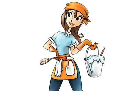 440x300 Cleaning Lady Clipart