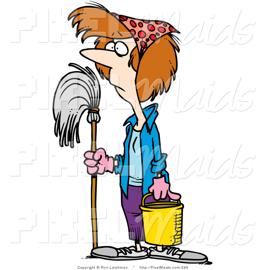 1024x1044 Clipart Of A Spring Cleaning Housewife By Toonaday