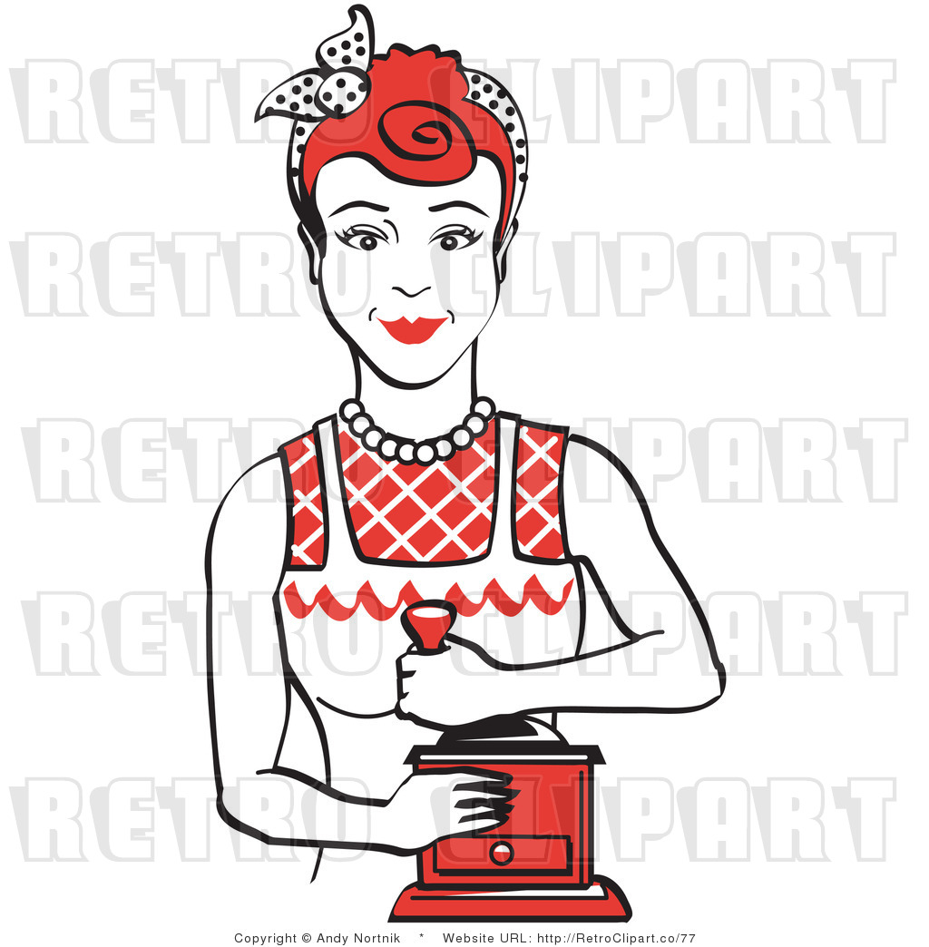 1024x1044 Royalty Free Vector Retro Clip Art Of A 1950's Housewife Or Maid